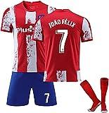 SXMY Erwachsene Fußballtrikot für Kinder, Männer Madrid 9 Suárez Fußball-Trikot, 3 Stück,...