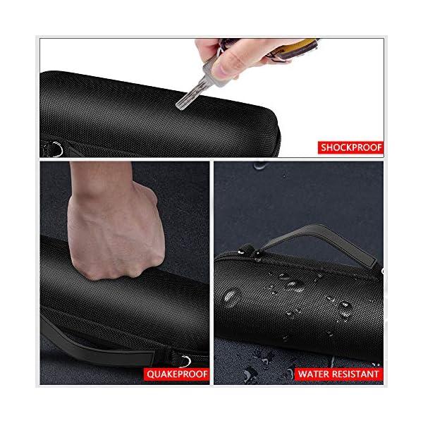case compatible with jbl flip 5 waterproof portable bluetooth speaker. hard travel storage holder for jbl flip 4 and usb…