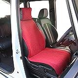 錦産業 前席用シートカバー リネン調生地 フリーサイズ(1枚入・レッド)Calm(カーム) AM-7361