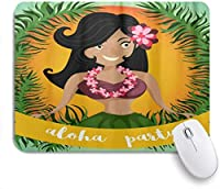 VAMIX マウスパッド 個性的 おしゃれ 柔軟 かわいい ゴム製裏面 ゲーミングマウスパッド PC ノートパソコン オフィス用 デスクマット 滑り止め 耐久性が良い おもしろいパターン (ハワイアンアロハフラダンシングガール)