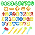 Oun Nana Dough Tools Play Dough Cutters, Various Shapes Include of Letters, Numbers, Symbols (47 PCS) from Oun Nana