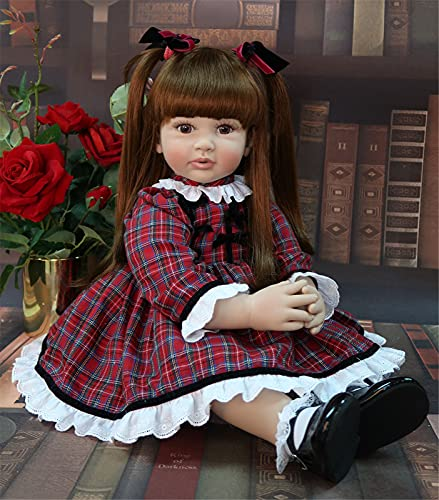 24'Big Big Size Reborn Toddler Princess Silicone Vinyl Adorable Lifelike Baby Bonecas GIRS Bebe Doll Reborn Menina