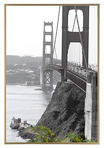 Frametory, 18x24 Metal Art Wall Frame, Aluminum Photo Frame Real Glass Front (Gold, Set of 1)
