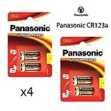 X4Panasonic CR123A 3V batería de fotos de litio 123Cr123DL123CR17345Cámara nuevo