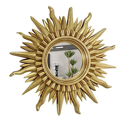ZKLNO Espejo De Baño Impermeable para El Hogar, Nórdico Montado En La Pared Sala De Estar Porche Pasillo Espejo Decorativo Dormitorio De Damas Tocador Espejo De Maquillaje,Oro