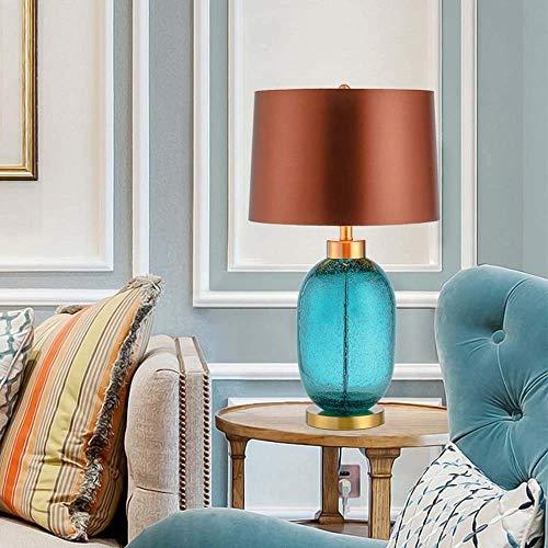 YANQING Duurzame Moderne Stijlvolle Sfeervolle Geglazuurde Lamp Amerikaanse Eenvoudige Woonkamer Studie Slaapkamer Moderne Creatieve Bedzijde Tafellamp 38x65cm Licht Up Leven