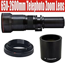 650-1300mm Telephoto Zoom Lens with 2x Teleconverter (=650-2600mm) for Olympus E-1, E-3, E-5, E-30, E-300, E-330, E-410, E-420, E-450, E-500, E-510, E-520, E-600, & E-620 Digital SLR Cameras