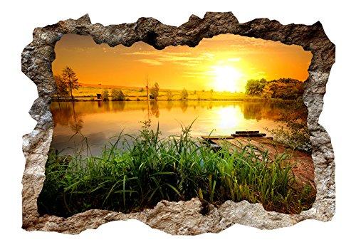 murando - 3D WANDILLUSION 140x100 cm Wandbild - Fototapete - Poster XXL - Loch 3D - Vlies Leinwand - Panorama Bilder - Dekoration - Wasserfall Natur c-C-0155-t-a