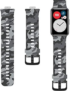 Camouflaged Silicone Strap for Huawei Watch Fit - Gray