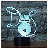 Batería Set 7 Cambio de color Bebé 3D Luz de noche Led Ilusión 3D Luz de noche de moda Novedad Habitación para niños Luz de lámparas para niños Lámparas del regalo del día de los niños