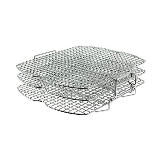 Ninja Official Dehydrate Rack, 3-Tier Wire Stand [4138J301UKE] Compatible with Ninja Foodi Air Grill, AG301UK