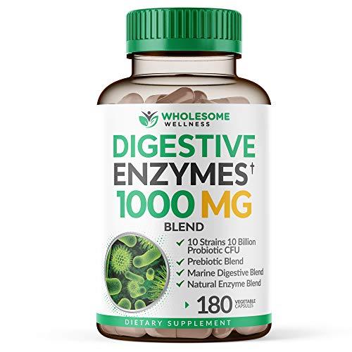 Digestive Enzymes 1000MG Plus Prebiotics & Probiotics Supplement,...