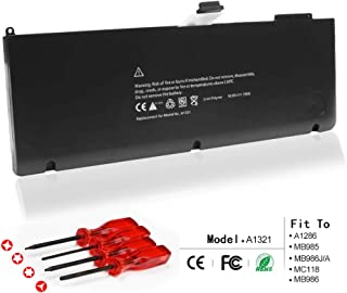 LQM 10.95V 73Wh New Replacement Laptop Battery for Apple A1321 A1286 MB985 MB986J/A MC118 MB986 Pro 15 inch (2009 2010 Model Only) Notebook