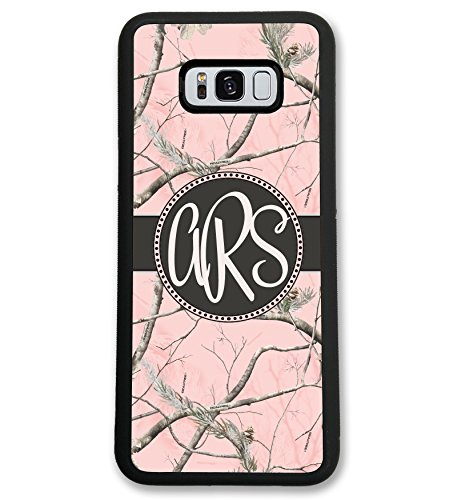 Simply Customized Case Compatible with Samsung Note8 Note 8 Pink Camo Monogram Monogrammed Personalized