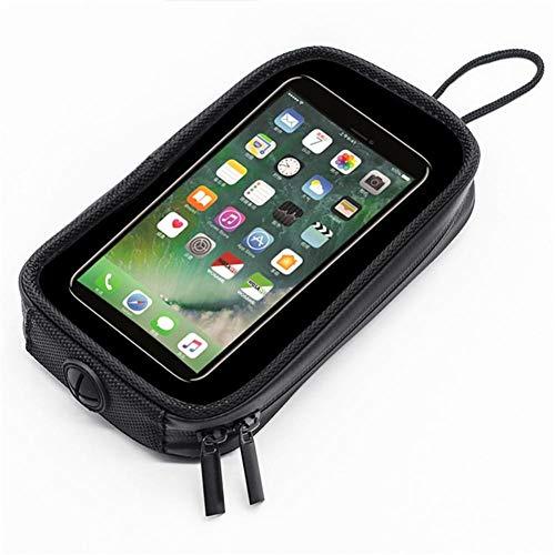 azurely Motorfiets mobiele telefoon tas, magnetische brandstoftank transparante zak motorfiets mobiele telefoon stoel tas mobiele telefoon houder tas