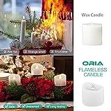 【2020 Neue】ORIA 12 LED Kerzen, Flammenlose Kerzen LED Teelicht Elektrische Kerzen Lichter, Batteriebetriebene Flackern Teelichter Kerzen Tealights für Weihnachten, Hochzeit, Party, etc - 3
