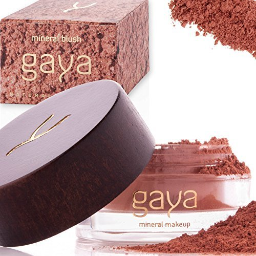 Gaya Cosmetics Mineral Blush Rouge Puder – Vegan Wangenrouge Women Make Up für langanhaltende Resultate in einer 9g Dose (BF2 Shade)