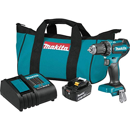 MAKITA XFD131 18V LXT Lithium-Ion Brushless Cordless 1/2-inch Driver-Drill Kit (Renewed)