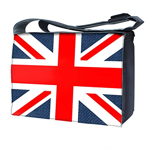 Luxburg'Union Jack borsa messenger con tracolla per laptop/notebook