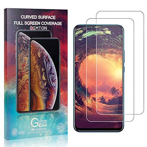 GIMTON Displayschutzfolie für Huawei P Smart Z, 9H Härte Anti Fingerprint Displayschutz, Ultra Dünn Schutzfilm aus Gehärtetem Glas für Huawei P Smart Z, 2 Stück