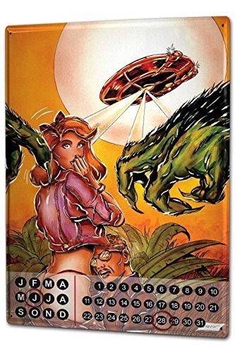 Wandkalender 2019 Jahreskalender Dauerkalender 2020 Kalender 2021 Terminplaner Fotokalender Sexy Fun FeliX Tanga UFO Monster Metall Magnet