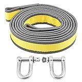 EBTOOLS Fune di traino, Cinghia di traino resistente fino a 8 tonnellate, corda di salvataggio lunghezza 4 metri con due ganci a forma di U