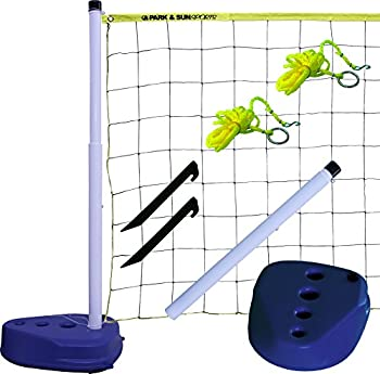 Park & Sun Sports Portable Indoor/Outdoor Swimming Pool Volleyball Net System Blue 24  W x 3  H