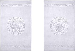 Versace Home Medusa White Cotton Bath Towels Set of 2 (100x160cm)