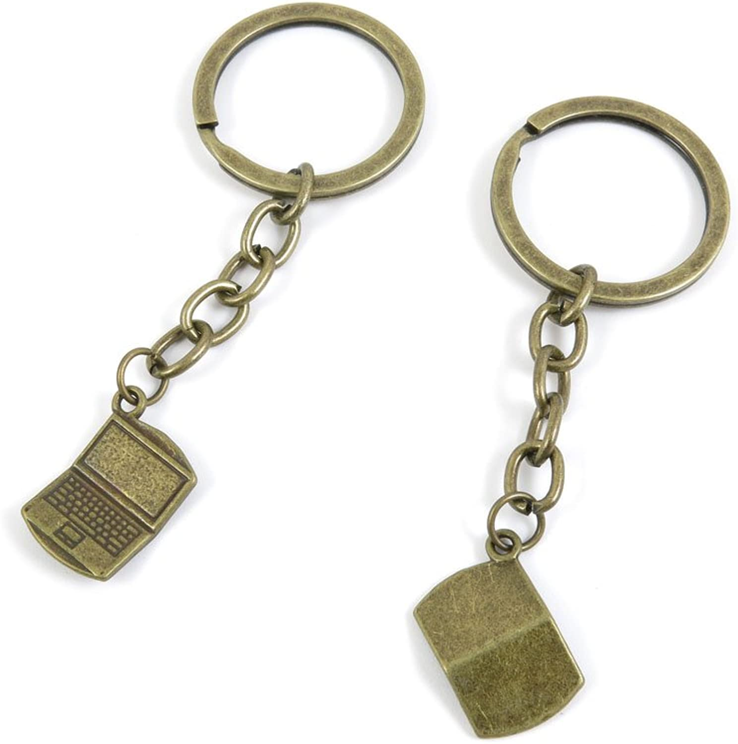 100 PCS Keyrings Keychains Key Ring Chains Tags Jewelry Findings Clasps Buckles Supplies G9BZ3 Notebook Laptop