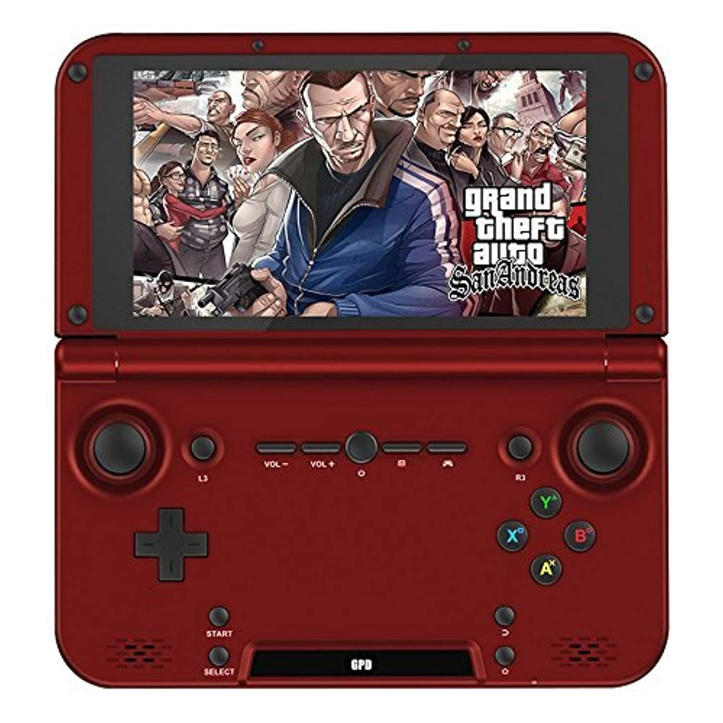 修羅場危機スケートGPD XD RK3288 2G/64G 5' Quad Core H-IPS Android Video Game Player Game Console Handheld game consoles Red by GPD [並行輸入品]