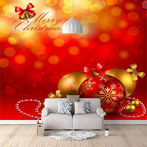 RCIFGU Papel tapiz fotográfico Autoadhesivo Papel Pintado Ideas de campana de Navidad moderno murales, sala de estar, dormitorio, pintura mural impermeable 400x280cm