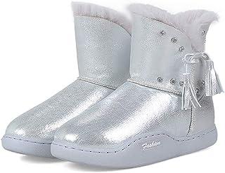 JOYBI Womens Waterproof Snow Boots Winter Fashion Flat Non Slip Comfort  Warm Round Toe Ankle Booties b65007d80eac