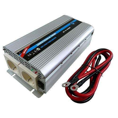 Convertisseur de tension 12/220V - 1000W Plus 2 Prises secteur Toutes Normes CE Emark Lvd