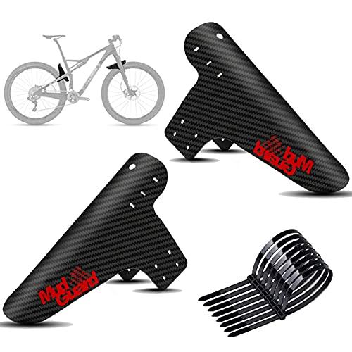 goldmiky Mountainbike Kotflügel Set, Fahrrad Mud Guard,Downhill Schutzbleche,2PCS Fahrrad Mud Guard MTB Schutzblech für die meisten Fahrräder