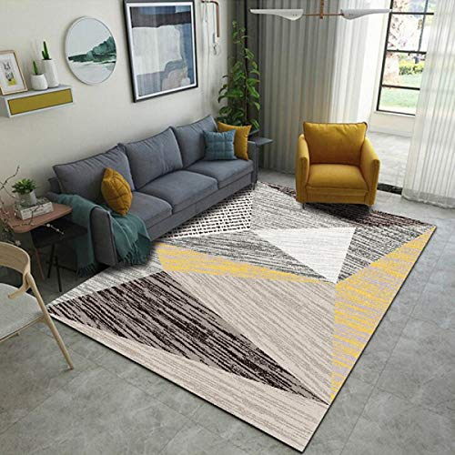 Generie Modern Art Office Japanese Cover Carpets Waterproof for Living Room Black and White Fabric Patterned Colourful Home Decor Rugs