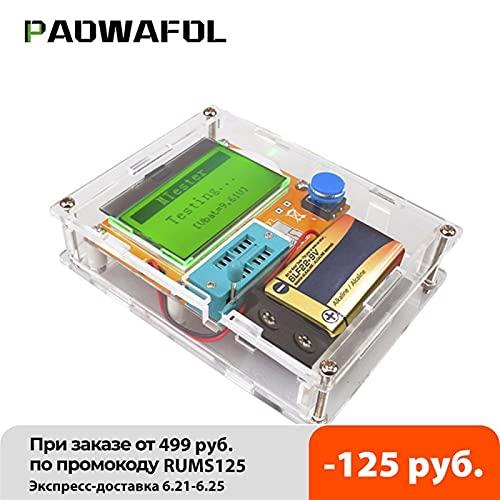 멀티미터 테스터 ESR 미터 MEGA328 트랜지스터 테스터 디지털 V2.68 ESR-T4 다이오드 트라이오드 용량 MOS | PNP | NPN LCR 12864 LCD 스크린 테스터(COLOR : WITHOUT CASE)