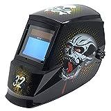 Antra AH7-360-7321 Auto Darkening Welding Helmet, Wide Shade Range 4/5-13, Great for TIG, MIG/MAG, MMA, Plasma, Grinding, Solar-Lithium Dual Power, 6+1 Extra lens covers