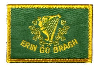 Aufnäher Patch Flagge Irland Erin Go Bragh - 8 x 6 cm