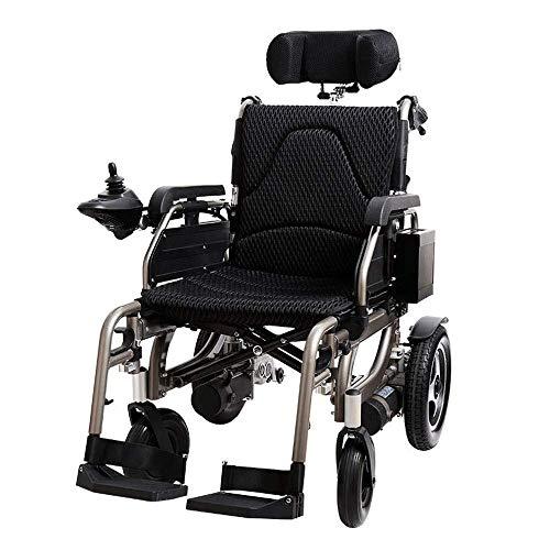 WBJLG Silla de Ruedas de aleación de Aluminio para Personas Mayores discapacitadas, Silla de Ruedas eléctrica portátil Plegable, Scooter, rotación del 360%, Adecuado para la Multitud: Personas May
