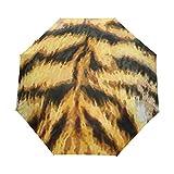 Tiger - Paraguas para mujer y hombre, cierre automático, tamaño pequeño, plegable, 3 unidades