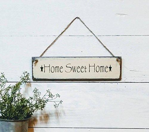 Monsety Holzschild Home Sweet Home Schild kleines Schild Willkommensschild Kranz Schild Türdekoration rustikal Bauernhaus Dekor Kabine Dekor Schild Geschenk