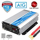 Pure Sine Wave Power Inverter 2200Watt DC 12 Volt to AC 120 Volt with 20A Solar Charger Control and Remote Control & LED Display 2.4A USB Port for RV Truck Solar System