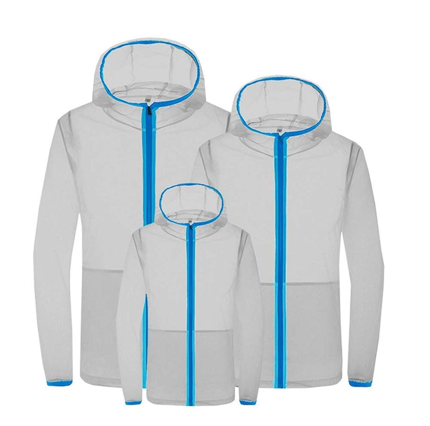 警告ベールビーム夏のエアコンスーツスマート3速冷却スーツ日焼け防止服防滴防蚊服ファン冷却肌の服,Gray,S