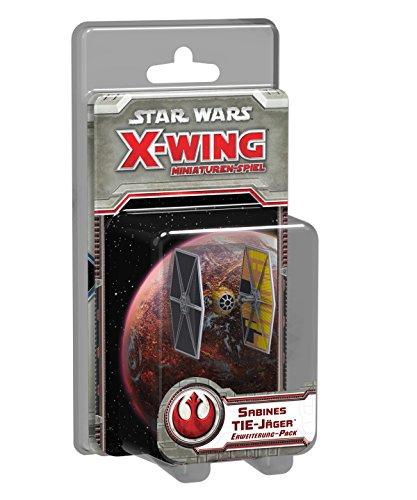 Fantasy Flight Games FFGD4029 Star Wars: X-Wing-Sabines TIE-Jäger Spiel, Miniaturenspiel