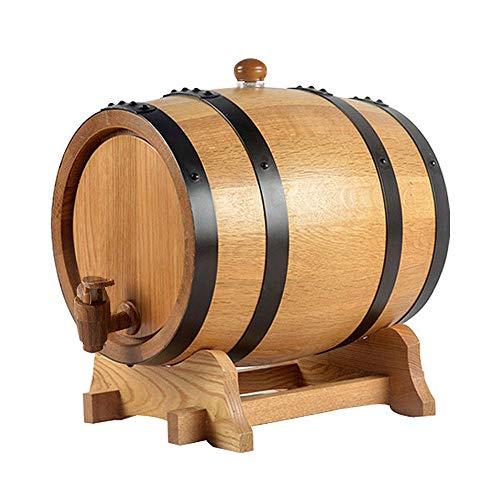 HJJT 30L Eichenfass, 25L/20L Holzfass weinfass Whiskyfass Schnapsfass Weinspender zur Aufbewahrung von Whiskey Bourbon Tequila, Anzug für Zuhause, Bar, Party und Bankett