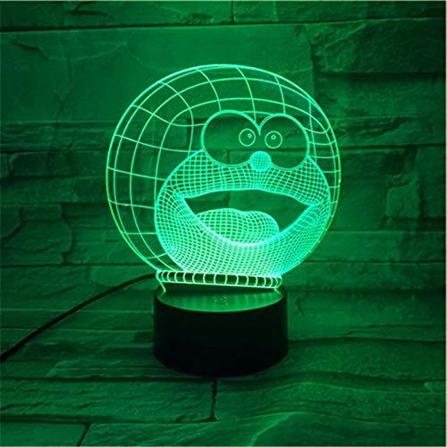 Table Lamp bedside Doraemon Cartoon Lampara 3D Illusion Children Kids Gift Decor Lights Animal Cat Night Light USB Decor 578