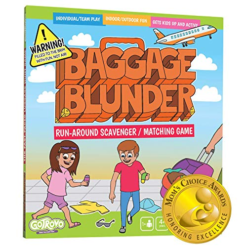 Matching Game Baggage Blunder - Fun for Kids Ages 4-8 - Run-Around Like A Scavenger Hunt to Find Your Missing Items and Match Them to Your List - Fast-Paced Travel-Themed Matching Board Game For Kids