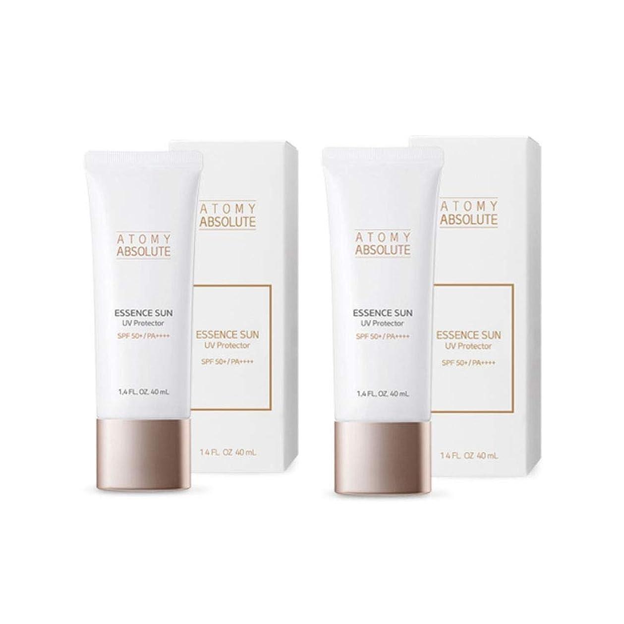 ささいなコンテンポラリー奪うアトミアブソリュートエッセンスサンUVプロテクター40mlx2本セットサンクリーム韓国コスメ、Atomy Absolute Essence Sun UV Protector 40ml x 2ea Set Sun Cream Korean Cosmetics [並行輸入品]