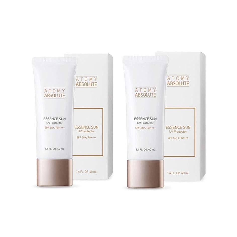 進捗しわクラックポットアトミアブソリュートエッセンスサンUVプロテクター40mlx2本セットサンクリーム韓国コスメ、Atomy Absolute Essence Sun UV Protector 40ml x 2ea Set Sun Cream Korean Cosmetics [並行輸入品]