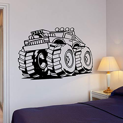 Vcnhln Decalcomanie da Muro per Auto Big Machine Wheel Power Cool Style Decorazione della casa Soggiorno Garage Art Wall Stickers Adesivi in vinile42x114cm